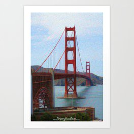 Sunny Golden Gate Bridge Art Print