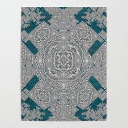 African Tribal Fractal Mandala Poster