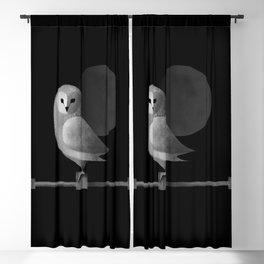 Barn Owl Full Moon Blackout Curtain
