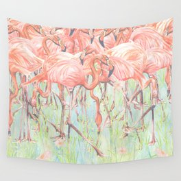 Flamingo Meadow Wall Tapestry