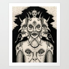 Weeping Demon Art Print