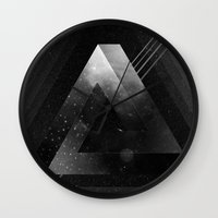 triangle Wall Clocks featuring Triangle by Guilherme Rosa // Velvia