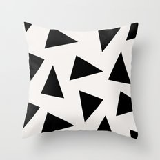 black triangle pattern II Throw Pillow