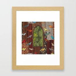 In the birdhouse Framed Art Print