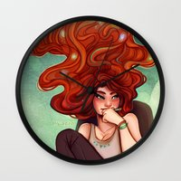 creativity Wall Clocks featuring Creativity by Cyarin