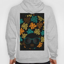 Afro Diva: Fall Colors Brown Gold Teal Hoody