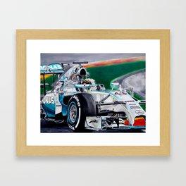 "Lewis Hamilton ""Focus On Lewis"" Framed Art Print"