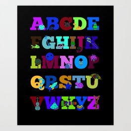 Learn Your Alphabet! Art Print