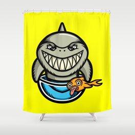 Spike the Shark Shower Curtain