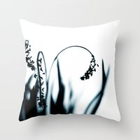 grace Throw Pillows featuring grace by Ingrid Beddoes