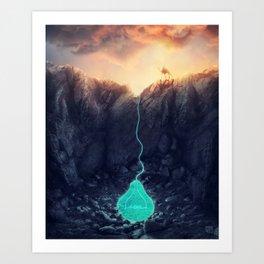The source Art Print