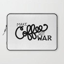 Coffee Not War (Black) Laptop Sleeve