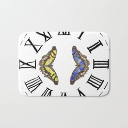 My Fluttery Clock 2 Bath Mat