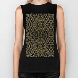 Art Deco Grey Gold Biker Tank
