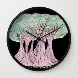 Night Trees Wall Clock