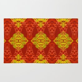 Stunning African Geometric Quilt Rug
