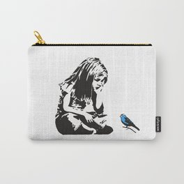 Girl with Blue Bird - Banksy Graffiti - Hull city centre Carry-All Pouch