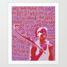 Venus Williams. Art Print