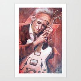 Keith Richard Caricature Portrait Art Print