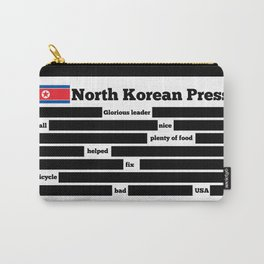 North Korea News Paper Carry-All Pouch