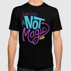 Process is Not Magic  Mens Fitted Tee MEDIUM Black