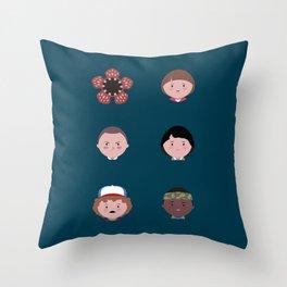 Stranger Icons Throw Pillow