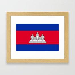 Cambodia Flag Framed Art Print