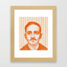 Portrait of Jibananda Das Framed Art Print