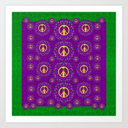 Peace be with us in love and understanding Art Print