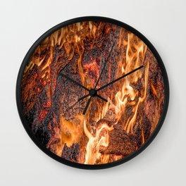 Orange flame Wall Clock