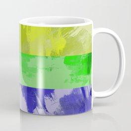 Rainbow Stripes - Abstract, textured, red, orange, yellow, green, blue, indigo, violet artwork Coffee Mug