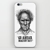 clint eastwood iPhone & iPod Skins featuring CLINT EASTWOOD  by Ani Dvaladze