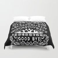 ouija Duvet Covers featuring Death Moth Ouija by ShayneoftheDead