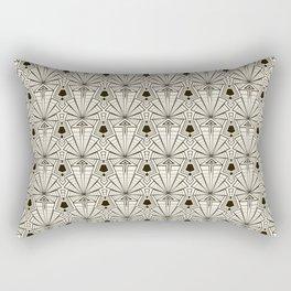 Retro art deco pattern ornament. Rectangular Pillow