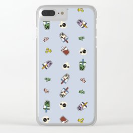 Boba Wall of Milk Tea Dreams Clear iPhone Case
