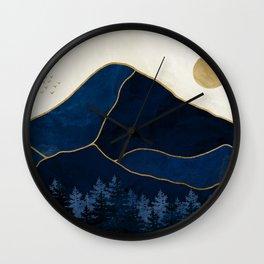 Mt Hood Sapphire Blue Wilderness Wall Clock
