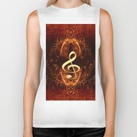 decorative Biker Tanks featuring Decorative clef by nicky2342