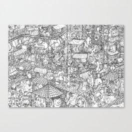 Jumble City Canvas Print