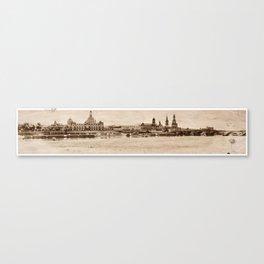 Brühlsche Terrasse Canvas Print