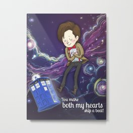 Doctor Who Love Metal Print