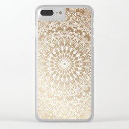 Gold Mandala 20 Clear iPhone Case