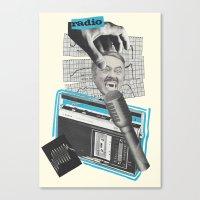 radio Canvas Prints featuring Radio by collageriittard