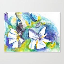 Wasserblumen / Waterflowers Canvas Print