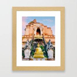 Chedi Luang Temple in Chiang Mai Fine Art Print Framed Art Print
