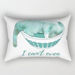 Dog in bowl Rectangular Pillow