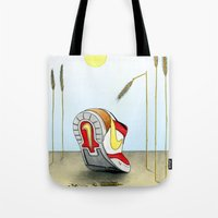 nike Tote Bags featuring Nike by Alex Drubetsky