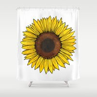 friday Shower Curtains featuring Friday by Virginia Skinner