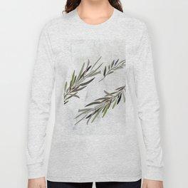 Eucalyptus Leaves White Long Sleeve T-shirt