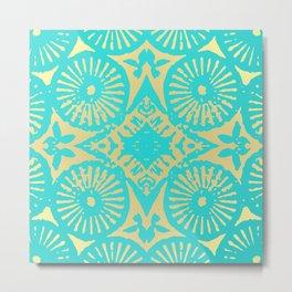 aquagold flower power 3 Metal Print