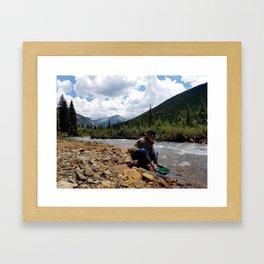 Prospector on Mineral Creek Framed Art Print